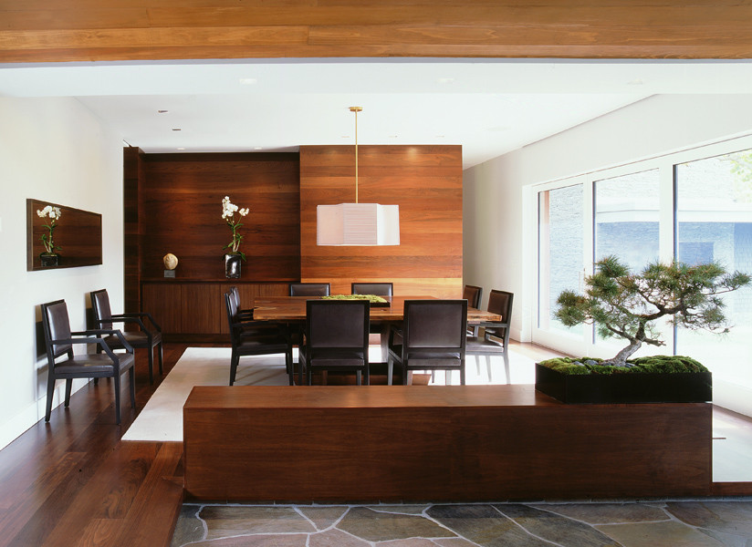 Inspiration for a modern dining room remodel in Los Angeles