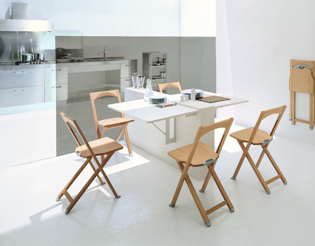 Calligaris quadro wall mounted drop leaf table modern for Dining room tables drop leaf