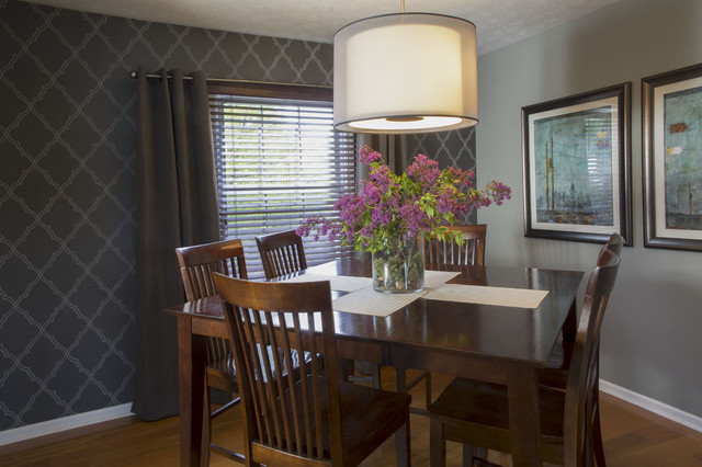 Calm and modern dining room living room update for Updating a traditional dining room