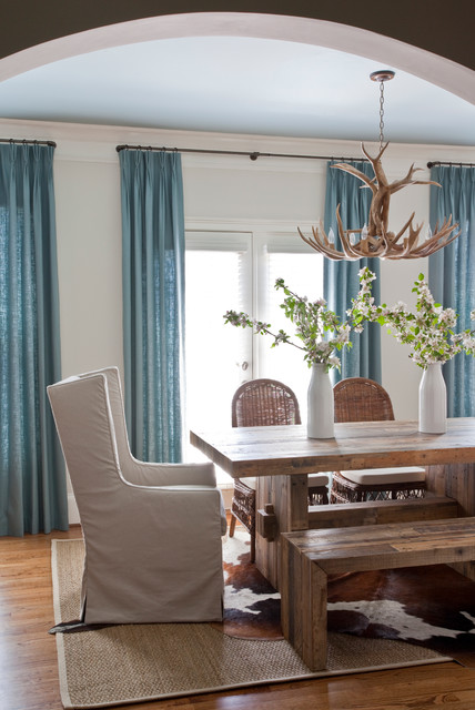 calm hues dining room transitional-dining-room