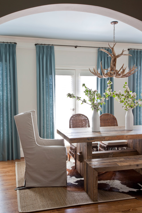 antler chandelier in transitional design