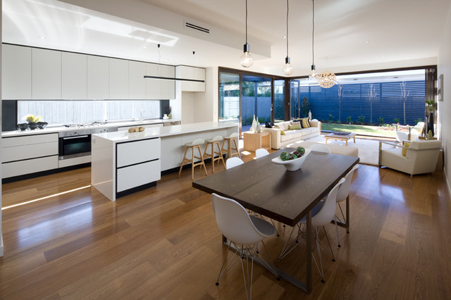 Camberwell Townhouses modern-dining-room