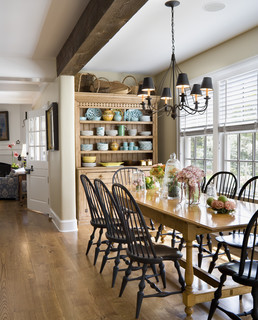 Of Wood Tables With Black Chairs And No Rug On The Floor Heres One Example Put In Search Under Dining Room Houzz To See More