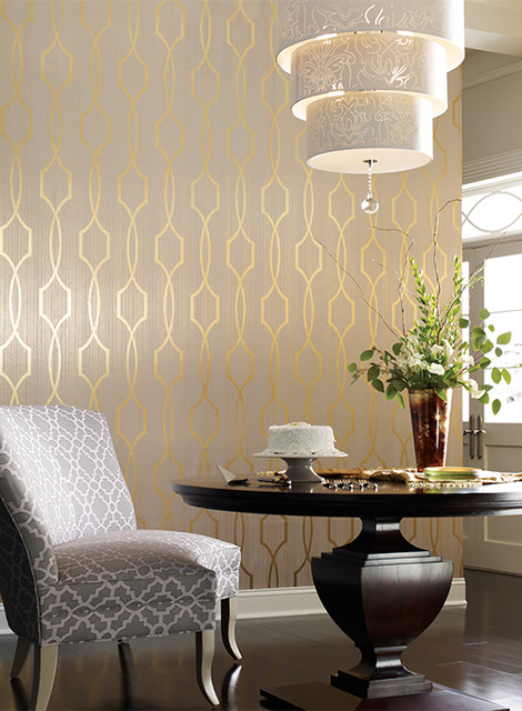Candice Olsen Modern Luxe By York Wallcoverings Modern Dining Room