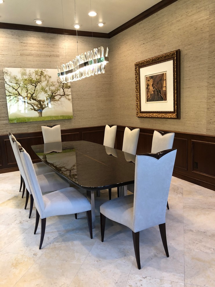 Inspiration for a dining room remodel in Los Angeles