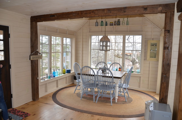 cape elizabeth cottage rustic dining room portland maine by