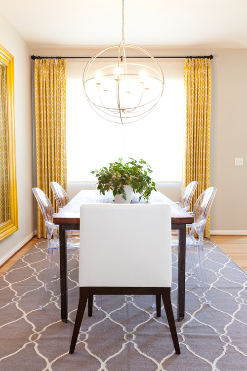 Interior design color trends lemon yellow for Eclectic dining room designs