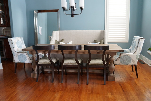 Dining room - transitional dining room idea in Indianapolis