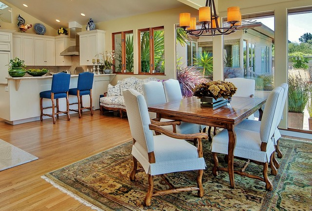 Carmel Valley and Santa Lucia Mountains eclectic-dining-room