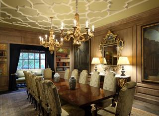 Carmel Valley Estate Mediterranean Dining Room San