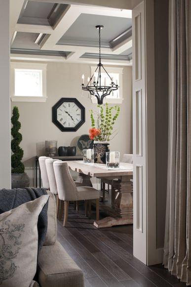 dining room ceiling | Seaside Interiors: Houzz Inspiration: Wallmark Homes