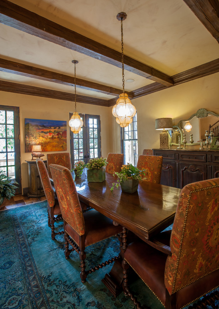 Mountain style dining room photo in Dallas