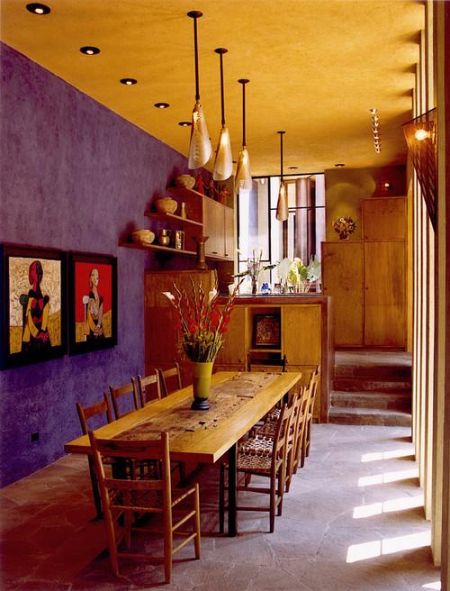 Casa de las Estrellas contemporary dining room