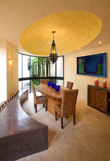 Casa Lluvia Blanca mediterranean-dining-room