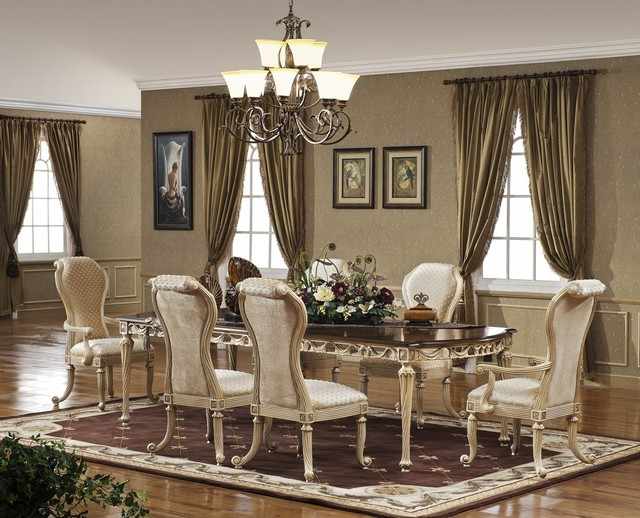 Delightful Casabella Dining Set Traditional Dining Room