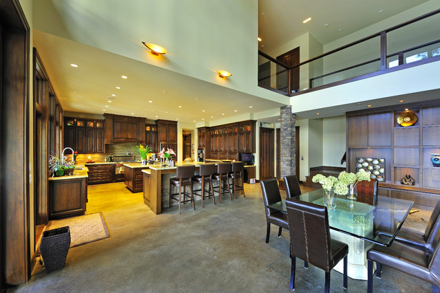 Dining room - modern dining room idea in Vancouver