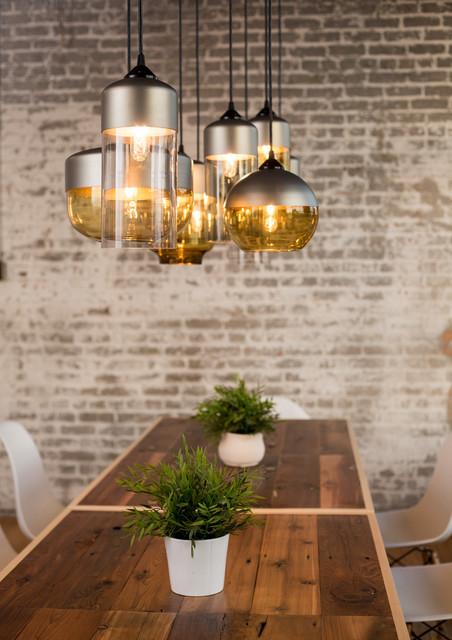 casket arts dining room industrial dining room - Industrial Lighting Dining Room