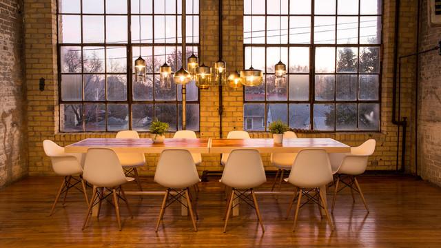 Dining Room   Industrial Dining Room Idea In Minneapolis
