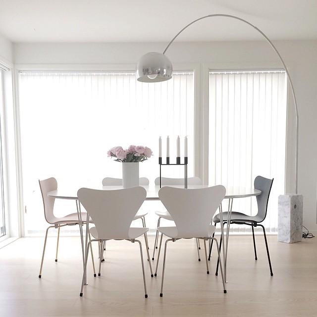castiglioni 39 s arco floor lamp midcentury dining room new york. Black Bedroom Furniture Sets. Home Design Ideas