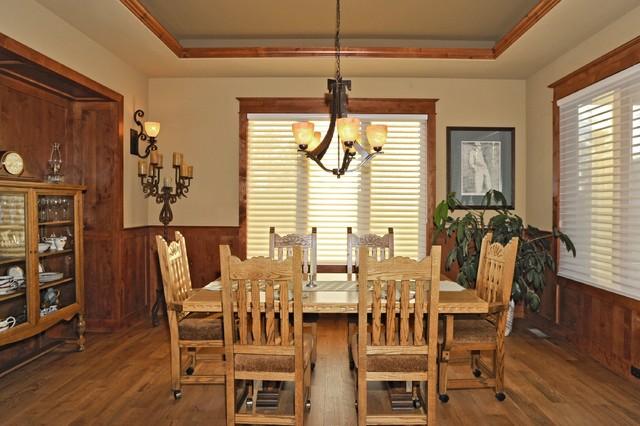 castle rock craftsman home craftsman dining room denver by