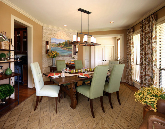casual cottage dining room rustic dining room houston by