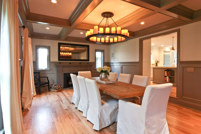 casual dining in a formal setting - traditional - dining room