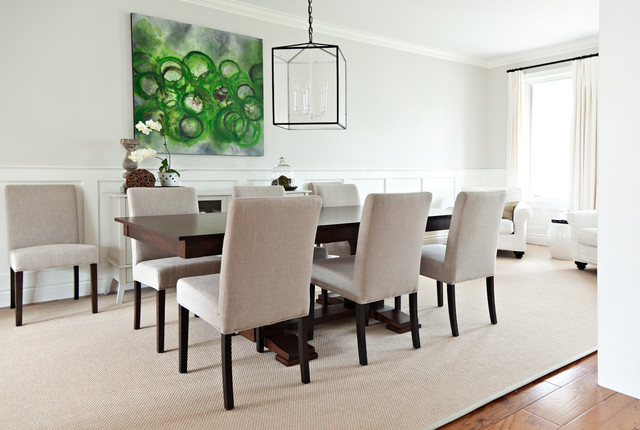 Casual Elegant Dining Room Transitional Dining Room