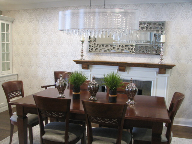 casual yet elegant dining room