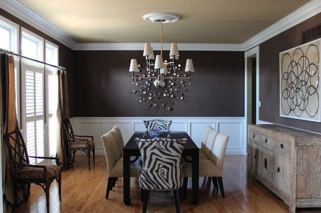 casually elegant dining room contemporary dining room st louis