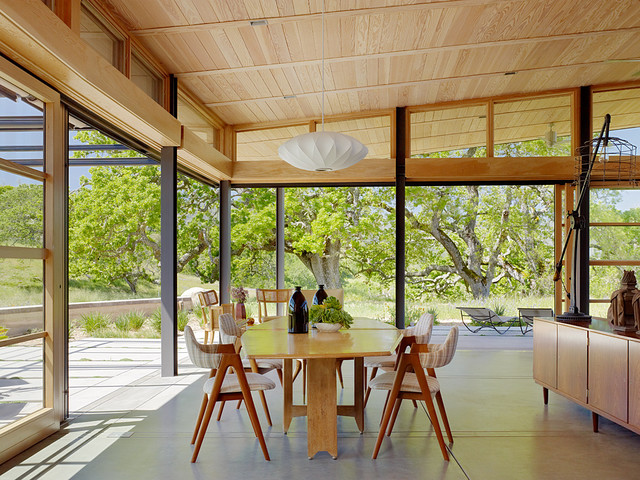 Caterpillar House midcentury-dining-room