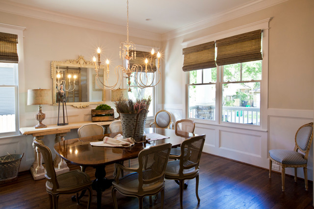 Cedar Hill Farmhouse With Bali Natural Woven Wood Shades From Blinds Com Traditional