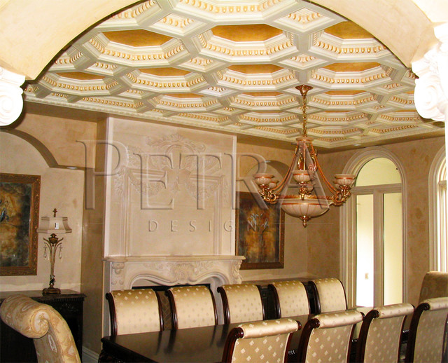 Ceiling design modern dining room toronto by petra for Dining room ceiling designs pictures