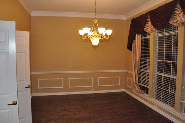 Chair Rail And Picture Frame Molding Traditional Dining Room