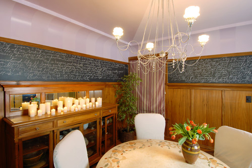 Chalk Board Paint Dining Room eclectic dining room