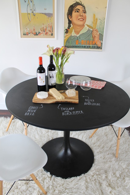 Chalkboard Table DIY Project Eclectic Dining Room