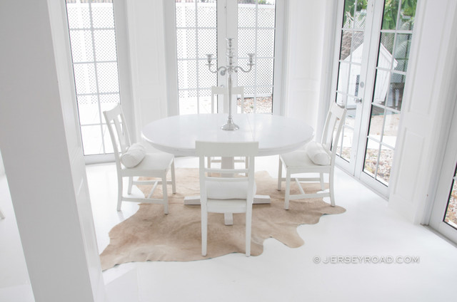Champagne Cowhide Rug - Contemporary - Dining Room - other metro - by Jersey Road .com