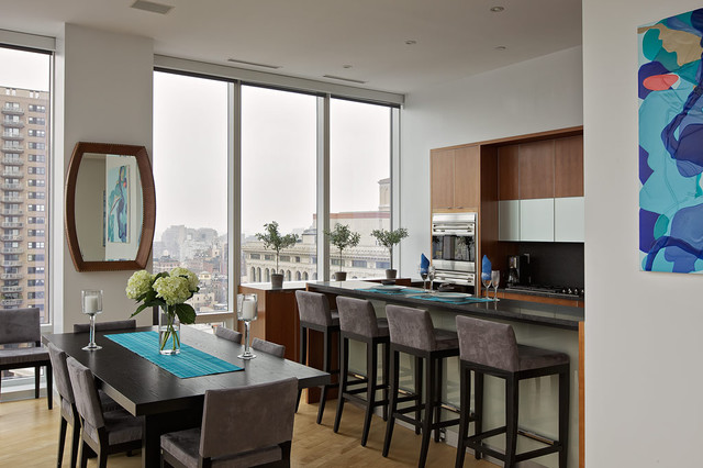 Chelsea duplex penthouse contemporary dining room new york by marie burgos design - Duplex burgos ...
