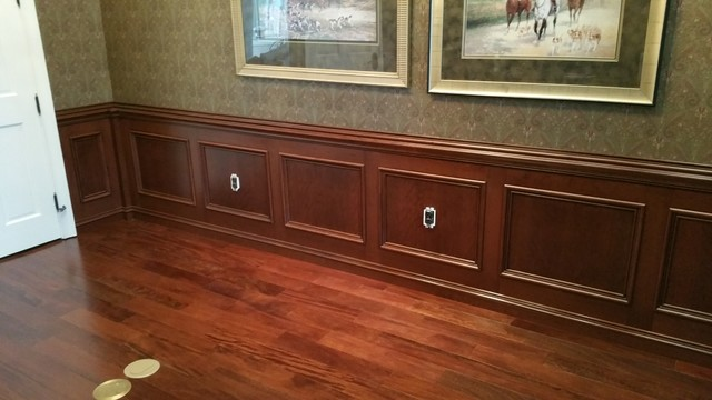 CHERRY WAINSCOT PANELING Modern Dining Room Orlando
