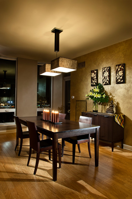 Chicago South Loop Condo Asian Dining Room