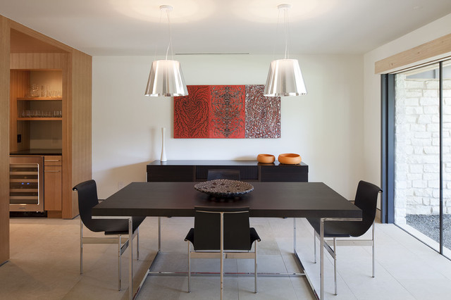 modern dining room by webber studio architects - Dining Room Hanging Light Fixtures