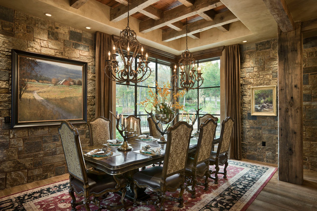 Superb Chimney Rock Residence Rustic Dining Room