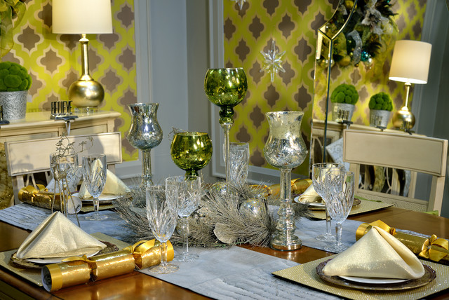 Christmas dining room by evelyn eshun interior design for Arnal decoration