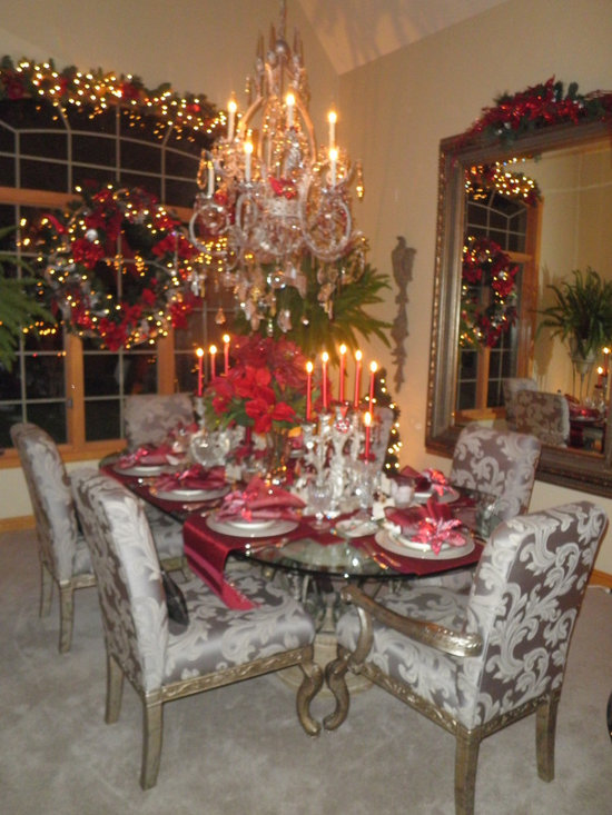 European Contemporary Christmas Dining Room