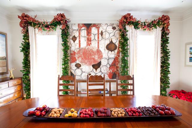 Christmas Interior Mediterranean Dining Room Houston By Regina Gust Designs