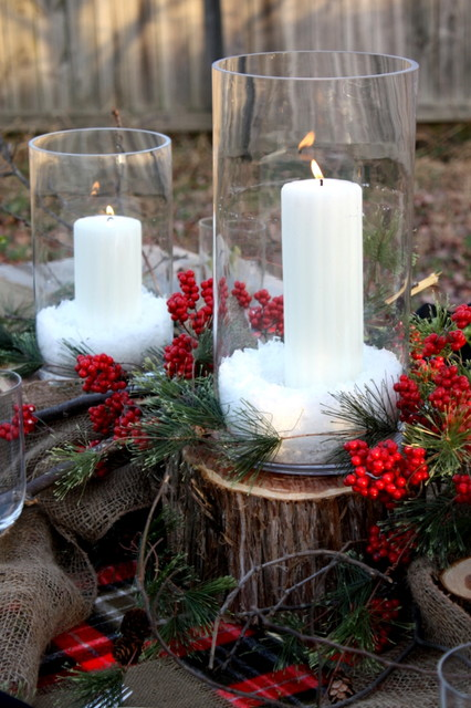 Christmas Tablescape rustic-dining-room