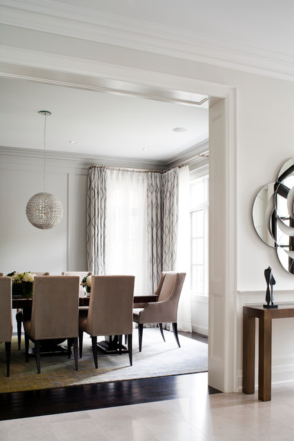 City Homes transitional-dining-room