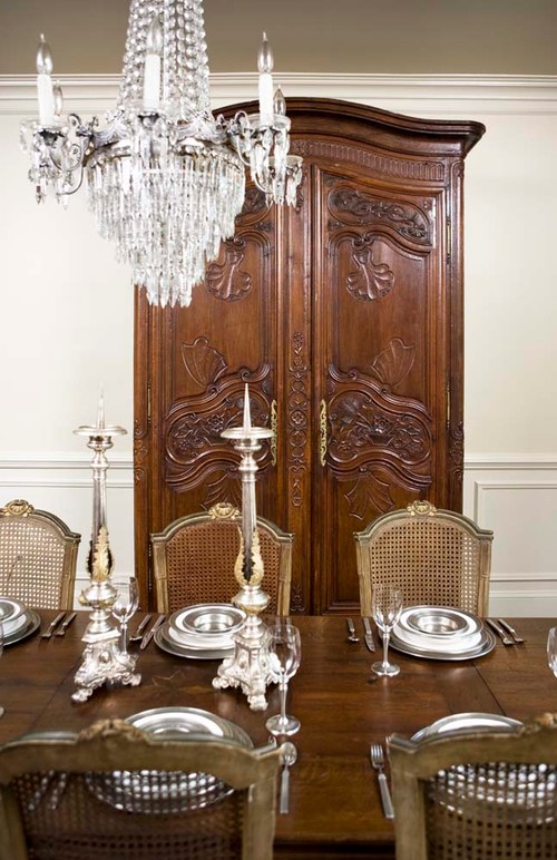 Carved French Armoire