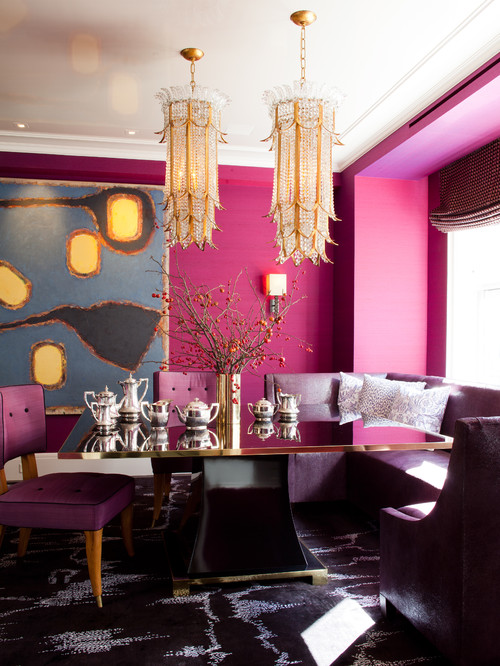 Contemporary Dining Room by New York Interior Designers & Decorators amanda nisbet