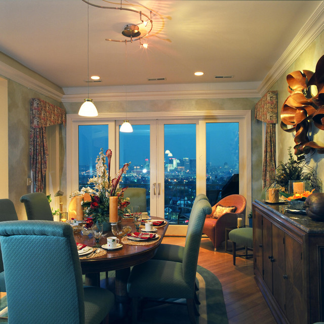 CityView Hillside Houses eclectic-dining-room