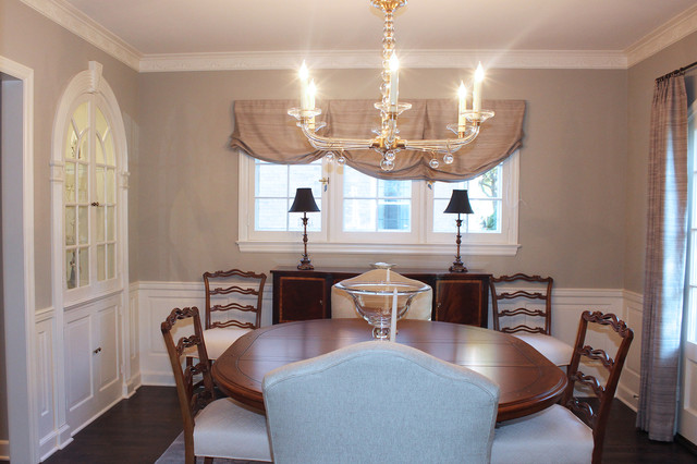 Classic 1940s whole house remodel traditional dining for 1940s window treatments